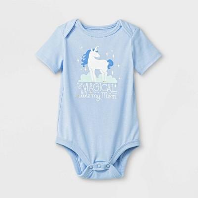 Baby Girls' Bodysuits - Cat & Jack™ Bauble Blue Newborn