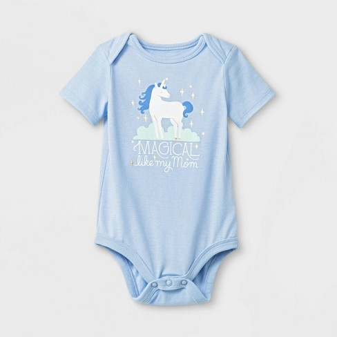 "Baby ""Magical Like Mom"" Bodysuit - Cat & Jack™ - Blue - image 1 of 1"
