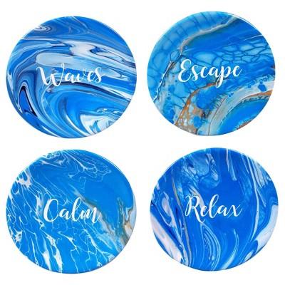 "6"" 4pk Earthenware Fluidity Canape Plates - Certified International"