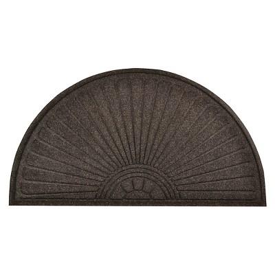 HomeTrax Guzzler Sunburst Doormat - Charcoal (23  x 44 )