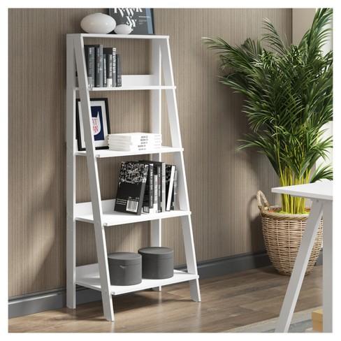 Wood Ladder Bookshelf 30