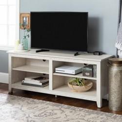 """Weathered Wood TV Stand 58"""" - Saracina Home"""