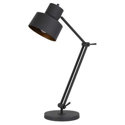 "33"" Davidson AdjusDesk Height Metal Desk Lamp Matte Black - Cal Lighting"