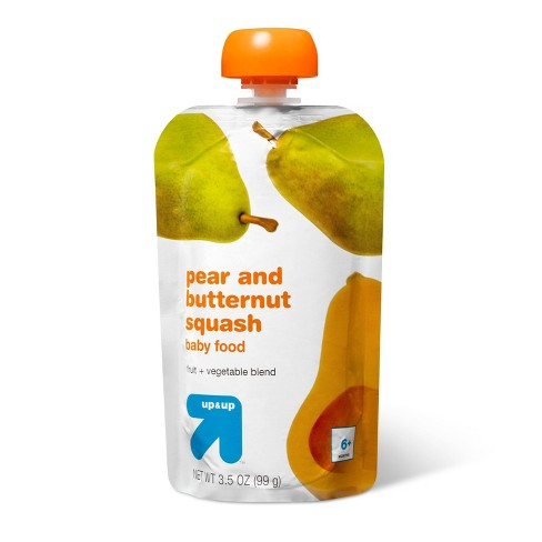 Stage 2 Pear and Butternut Squash Baby Food Pouch - 3.5oz - up & up™ - image 1 of 3