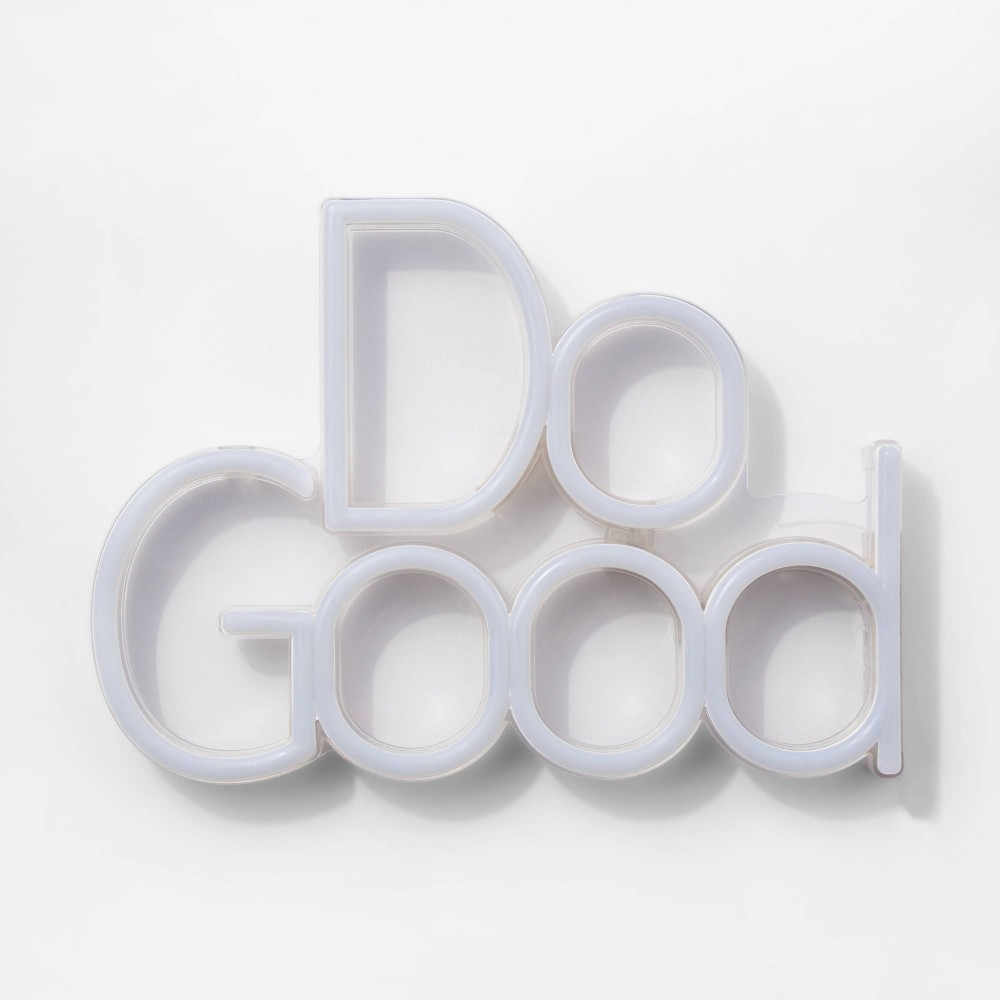 Image of Do Good LED Neon Wall Sign White - Room Essentials