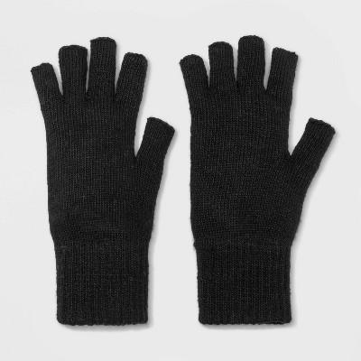 Men's Knit Fingerless Gloves - Goodfellow & Co™ Black One Size