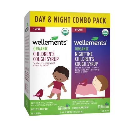 Wellements Day & Nighttime Children's Cough - 4 fl oz