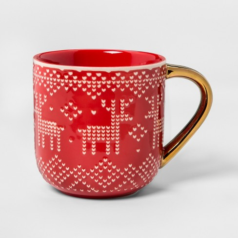 Stoneware Reindeer Sweater Mug 17.5oz - Threshold™ - image 1 of 1