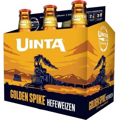 Uinta Golden Spike Hefeweizen Beer - 6pk/12 fl oz Bottles