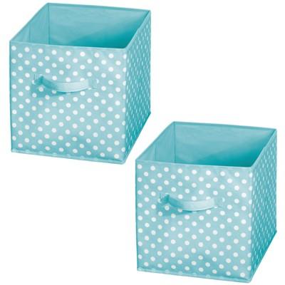 mDesign Kids Fabric Closet Storage Organizer Cube Bin Box for Shelf