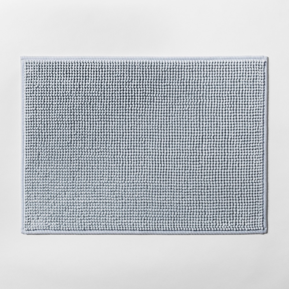 "Image of ""17""""x24"""" Heathered Bath Rug Aqua - Made By Design"""