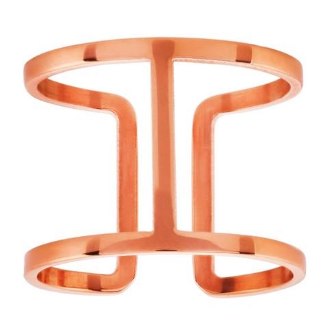 ELYA® Geometric Open Ring - Rose Gold - image 1 of 2