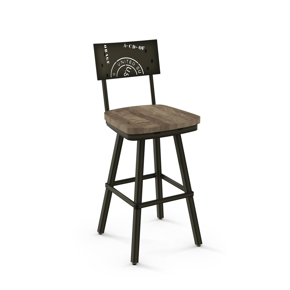 "Image of ""25.25"""" Amisco Jameson Counter Stool Brown"""