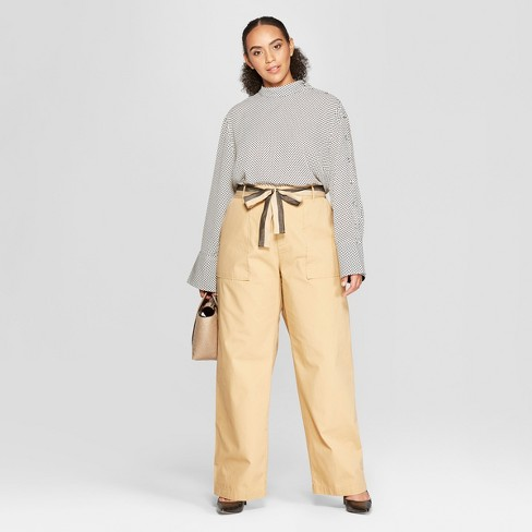 32c7646073f Women s Plus Size Duo Front Pocket Straight Wide Leg Cargo Pants - Who What  Wear™ Khaki. Shop all Who What Wear