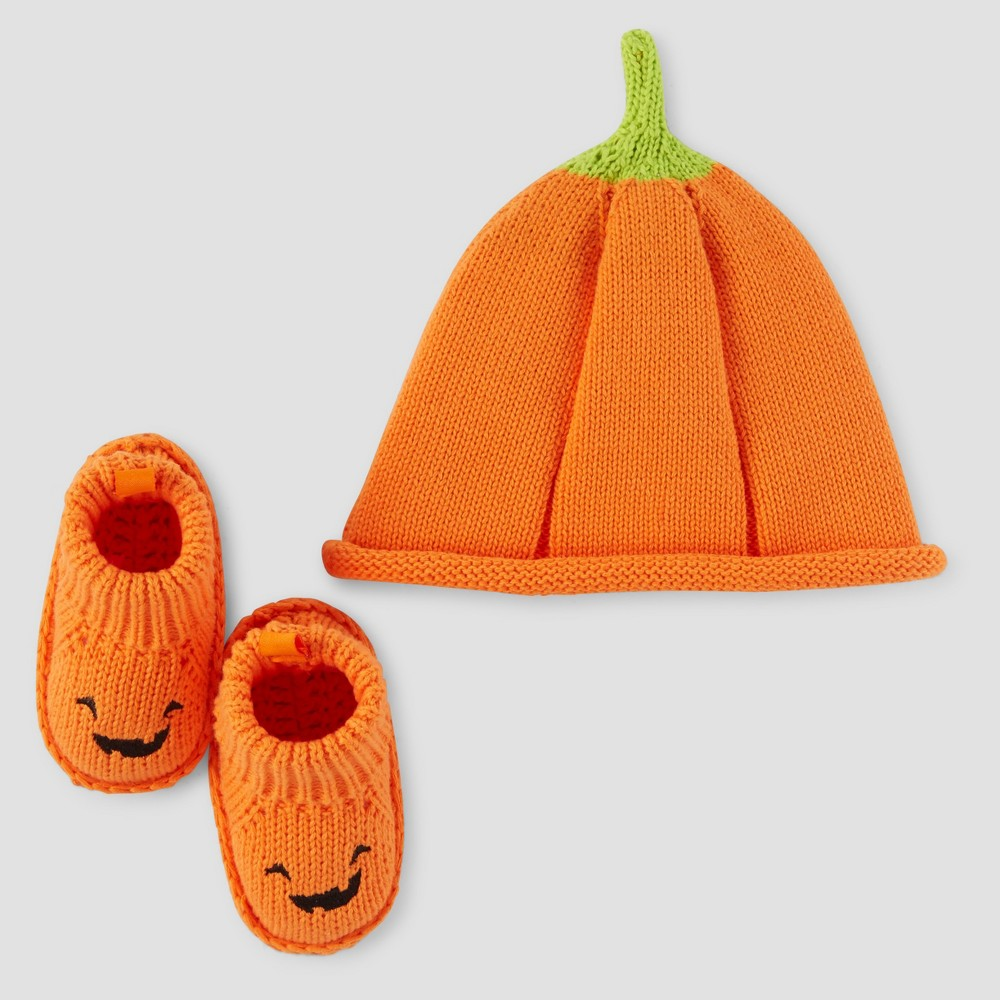 Baby Halloween Hat and Bootie Set - Just One You Made by Carter's Orange, Infant Unisex, Size: Newborn