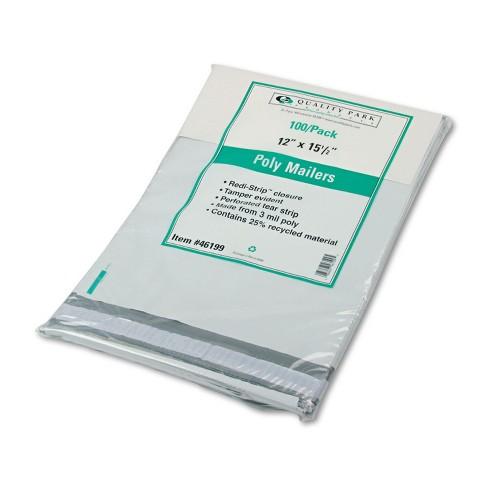 Quality Park Redi Strip Poly Mailer 12 x 15 1/2 White 100/Box 46199 - image 1 of 1