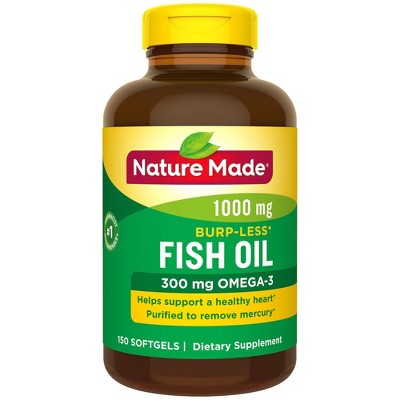 Vitamins & Supplements: Nature Made Burp-Less Fish Oil