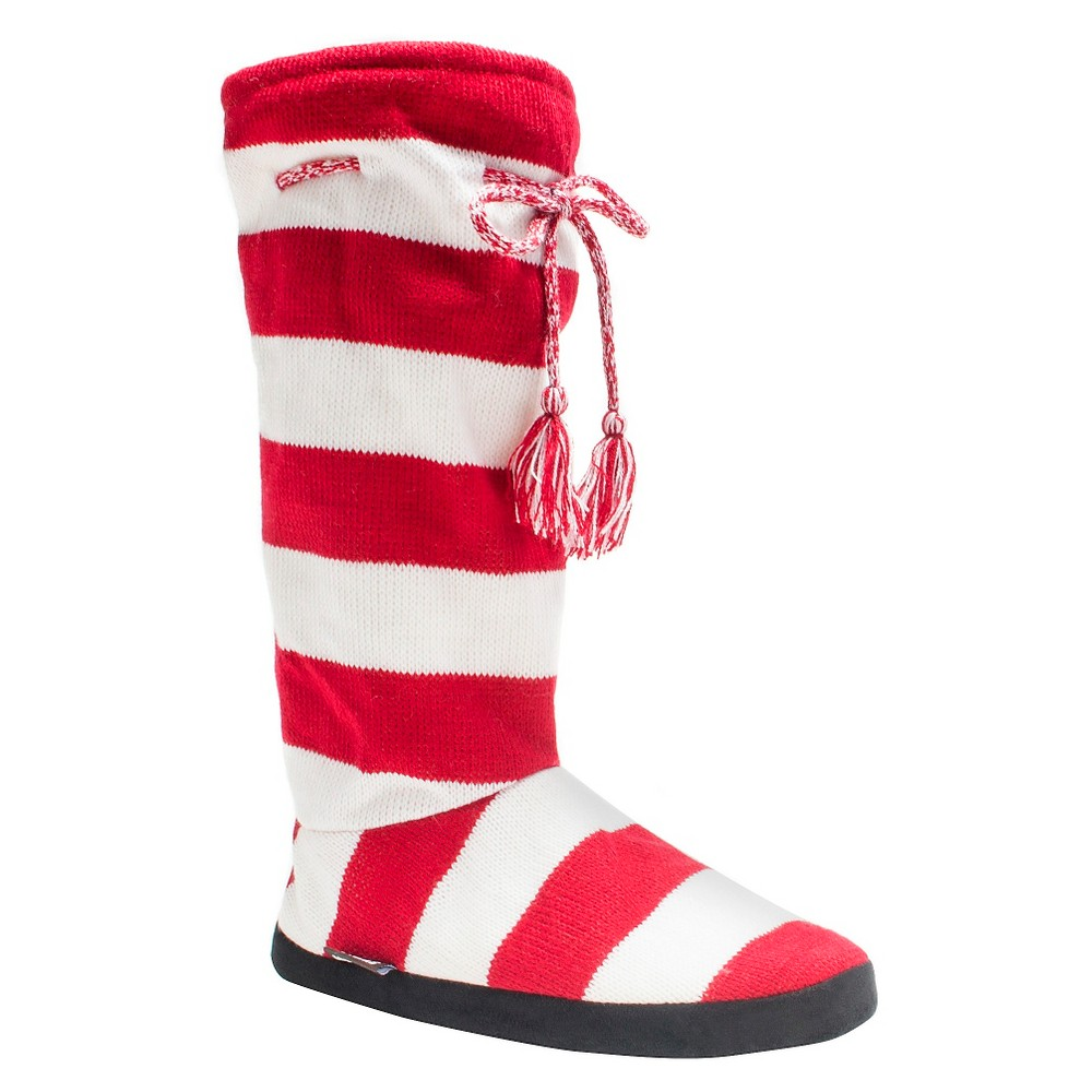 Women's Muk Luks Game Day Slipper Boots - Red S(5-6), Size: S (5-6)