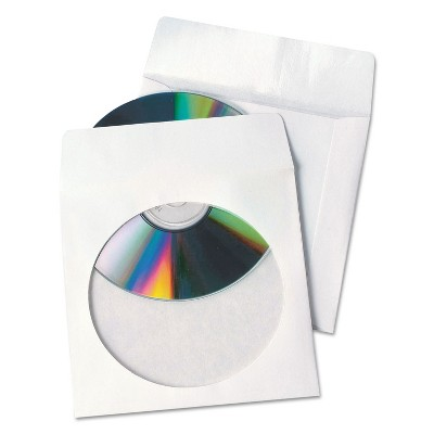 Quality Park Tech-No-Tear Poly/Paper CD/DVD Sleeves 100/Box 77203
