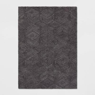 5'X7' Handtufted Geo Diamond Rug Gray - Project 62™