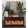 Wooden Chest with Wicker Drawers Brown - Olivia & May - image 3 of 4