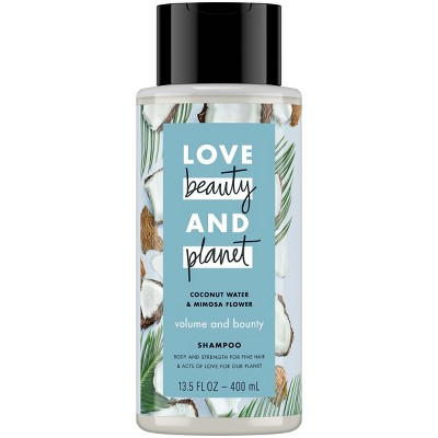 view Love Beauty & Planet Coconut Water & Mimosa Flower Volume & Bounty Shampoo - 13.5 fl oz on target.com. Opens in a new tab.