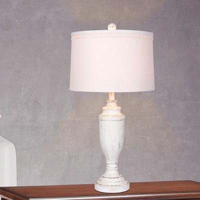 Delicieux Distressed Formal Resin Table Lamps Cottage Antique White (Lamp Only)    Fangio Lighting