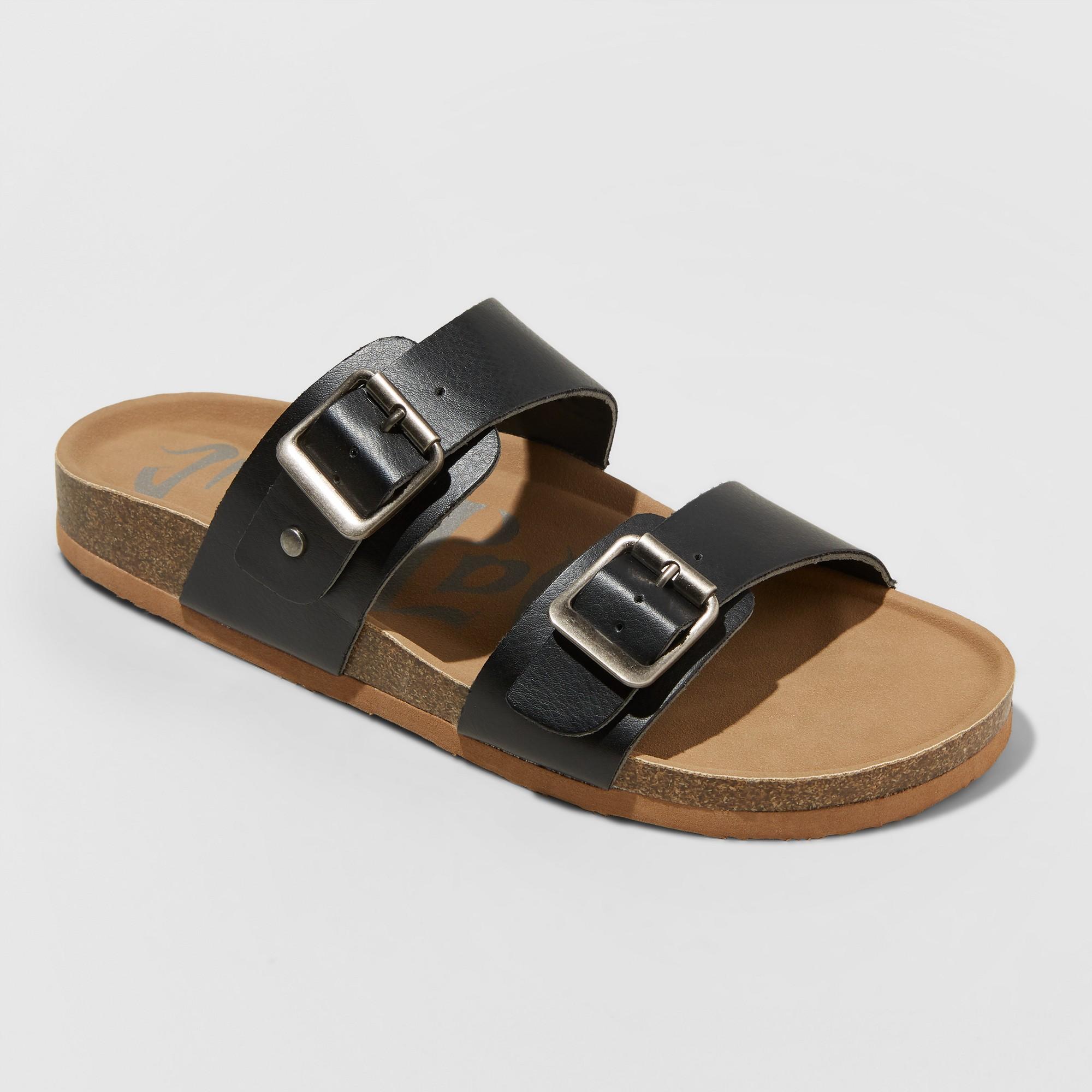 Women's Mad Love Wide Width Keava Footbed Sandal - Black 10W, Size: 10 Wide