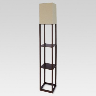 Shelf Floor Lamp Brown (Lamp Only)- Threshold™