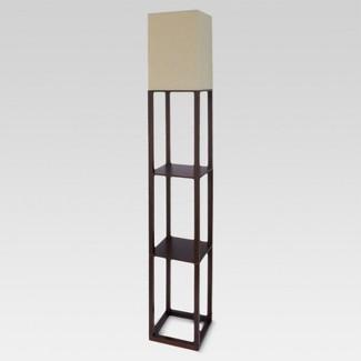 Shelf Floor Lamp Brown (Lamp Only) - Threshold™