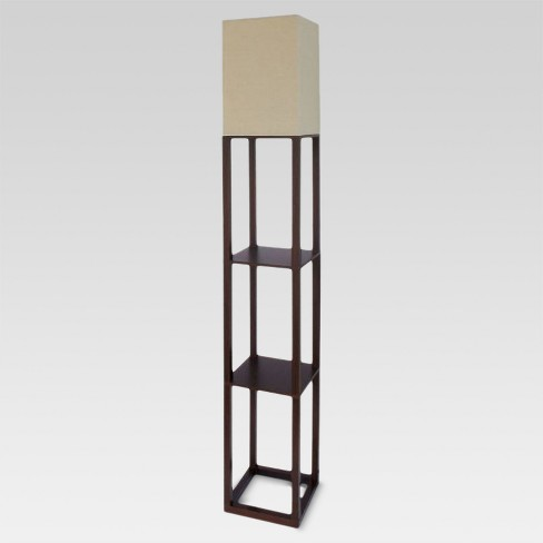 Shelf Floor Lamp Brown (Lamp Only) - Threshold™ - image 1 of 5