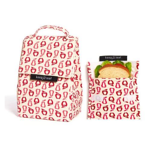 Keep Leaf Lunch Bag and Reusable Sandwich Bag - New Fruit - image 1 of 2
