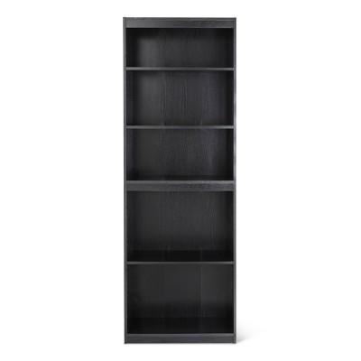 5 Shelf Bookcase Black - Room Essentials™