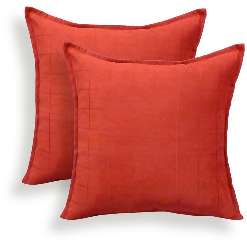 2pk Mendon Embossed Suede Throw Pillow - Essentials - image 1 of 1