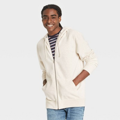 Men's Fleece Full-Zip Hoodie Sweatshirt - Goodfellow & Co™