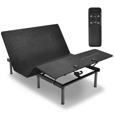 Costway Adjustable Bed Base Head & Foot Remote Control Steel Frame USB Queen