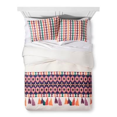 White Akeba Tassel Print Duvet & Sham Set Full/Queen - Justina Blakeney for Makers Collective®