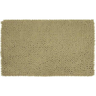 "24""x40"" Chunky Chenille Memory Foam Bath Rug Taupe - Room Essentials™"