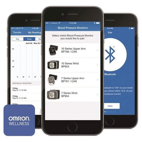 Omron 7 Series Wrist Bluetooth Blood Pressure Monitor Target