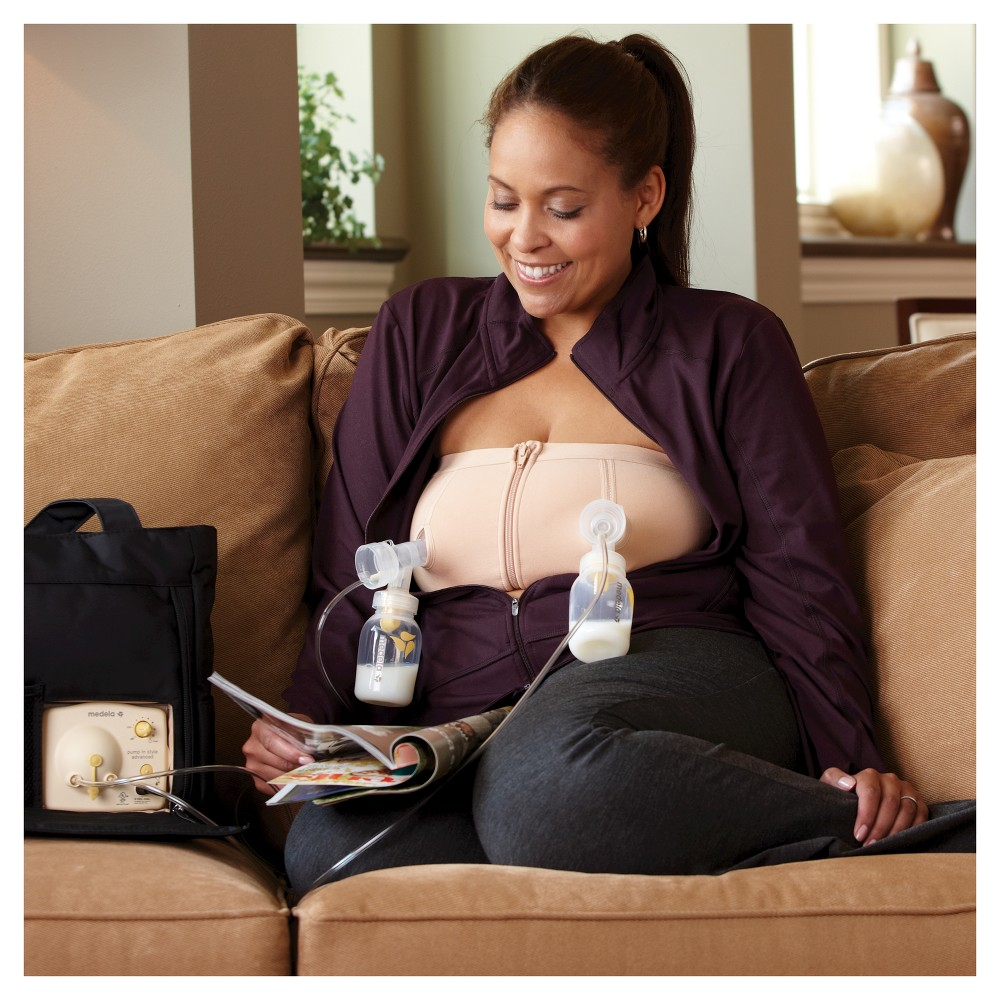 Medela Easy Expression Hands Free Pumping Bustier - Nude M