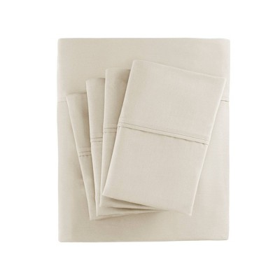 Cotton Blend 6pc Sheet Set 800 Thread Count (King)Ivory