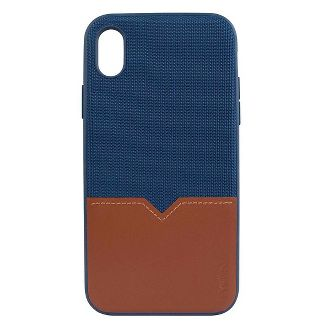 Evutec Apple iPhone XS Max Northill Case (with Car Vent Mount) - Blue/Saddle