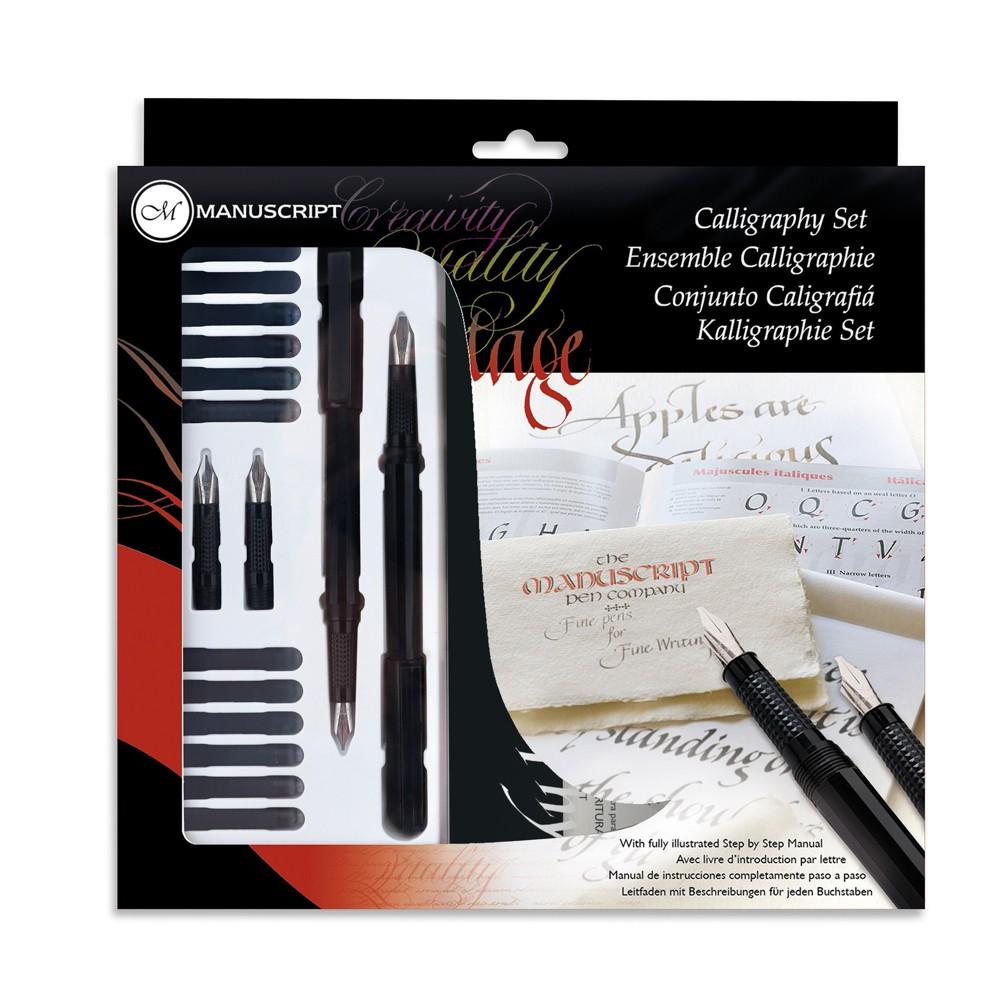 Manuscript Calligraphy Set 16pc, Black