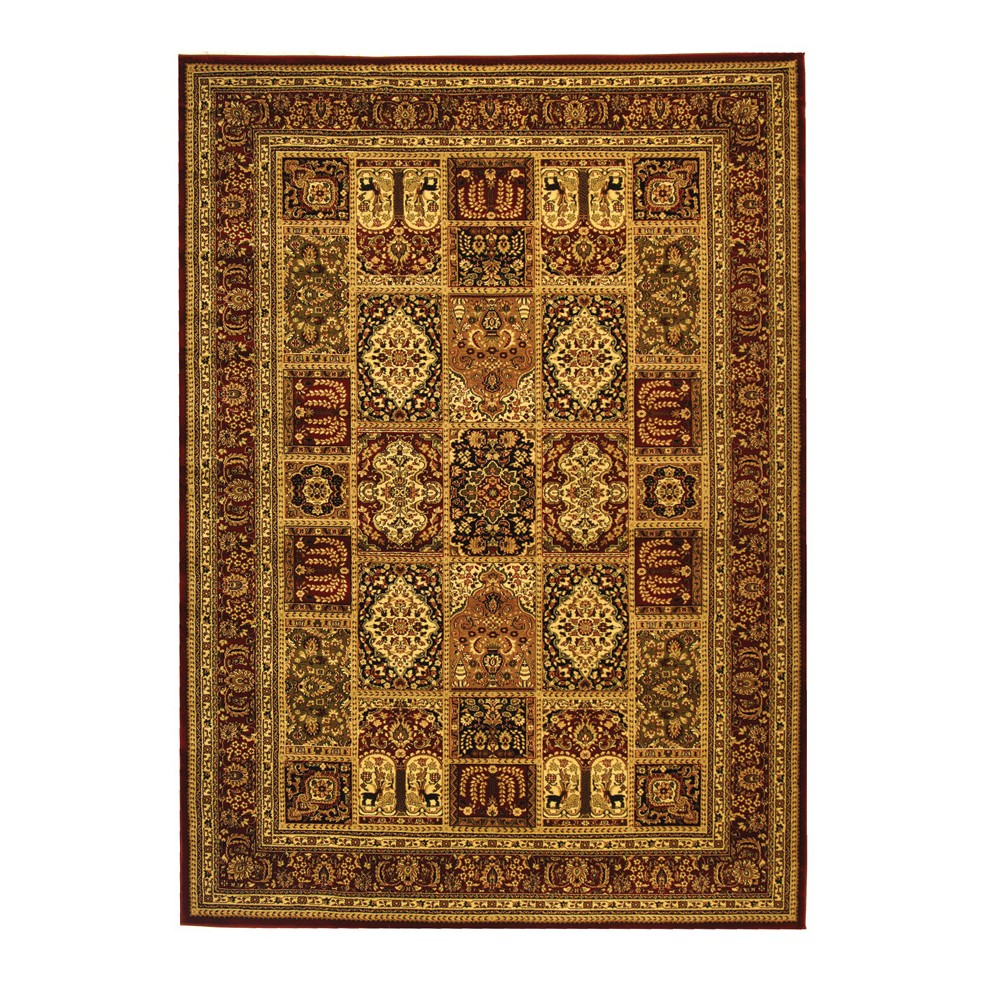 Gray/Ivory Floral Loomed Area Rug 8'X11' - Safavieh, Red