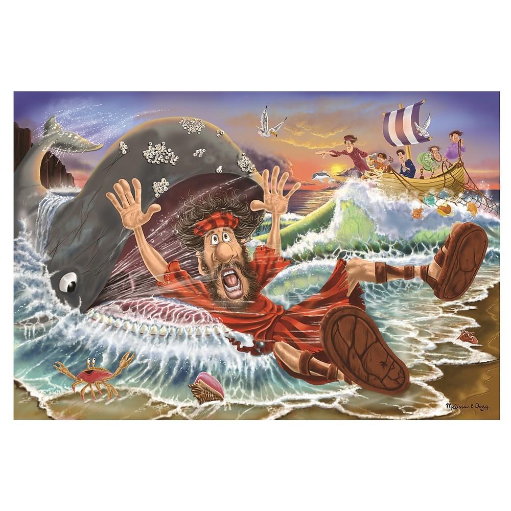 Melissa & Doug Jonah and the Whale Jumbo Jigsaw Floor Puzzle (48pc, 2 x 3 feet)