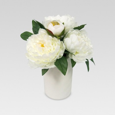 Artificial Peony Arrangement Large - White - Threshold™
