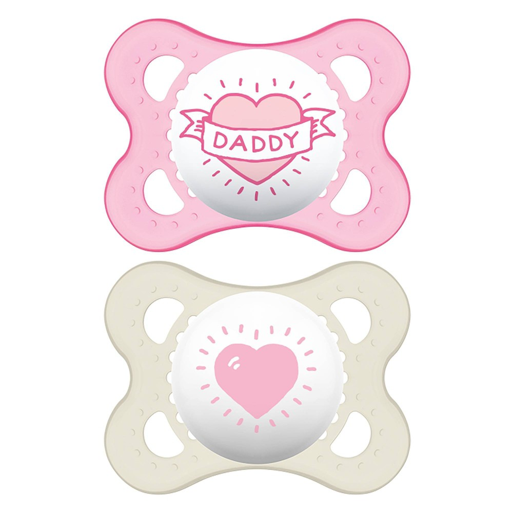 Image of MAM Love & Affection Pacifier 0-6 Months - 2ct Pink