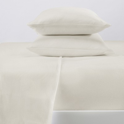 Great Bay Home 100% Cotton Solid Flannel Sheet Set