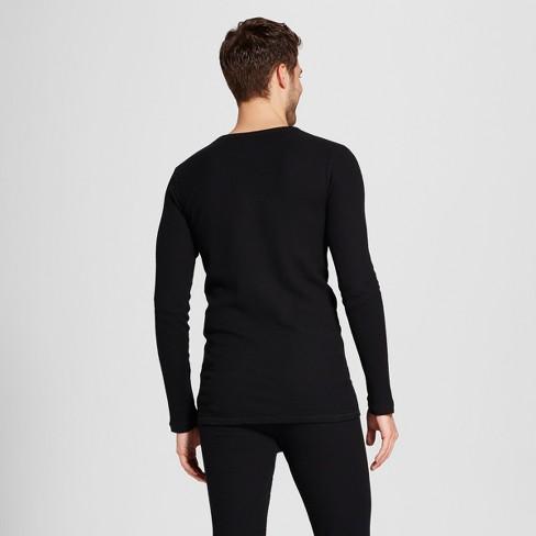 f5b0aa4c7e Men s Long Sleeve Micro Thermal Shirt - Goodfellow   Co™ Black M   Target