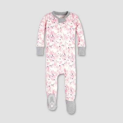 Burt's Bees Baby® Baby Girls' Waterlily Sleeper - Eggshell 3-6M